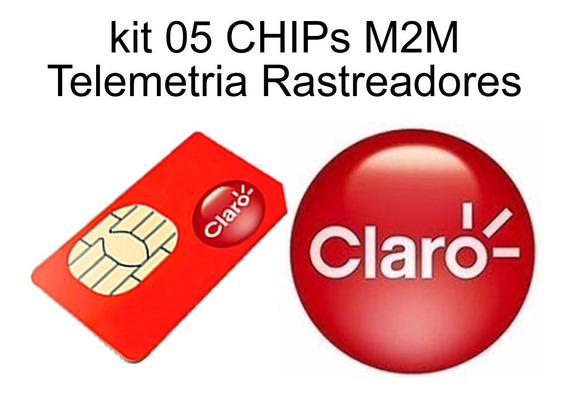 Kit 5 Chip M2m Claro, Rastreadores E Telemetria.