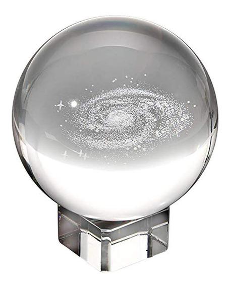 80mm Galaxy Crystal Ball Com Suporte Fotografia Photo Props