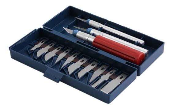 Set Cuchillos Para Corte Tallado Cuero Madera