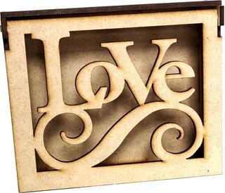 Caja Amor Y Amistad, San Valentin O Toda Ocasión Madera
