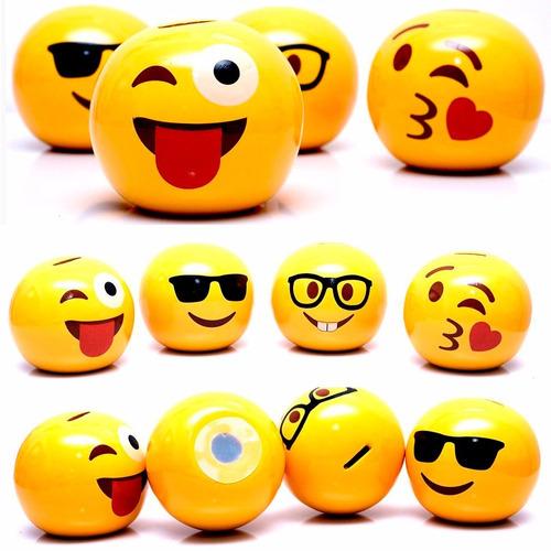 Imagem 1 de 8 de Cofres Infantil Emoji Com Carinhas - Decoração