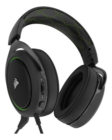 Fone de ouvido gamer Corsair HS50 green