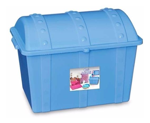 Bau Infantil Plastico Para Brinquedos Menino