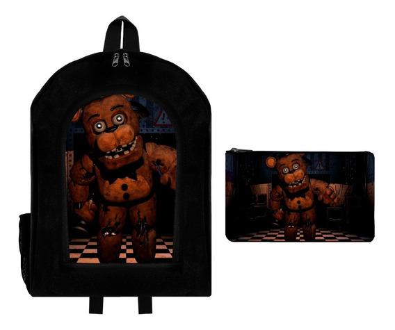 Combo Mochila Reforzada + Cartuchera Five Nights At Freddys3