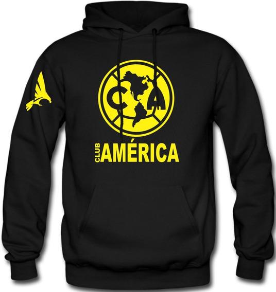Sudadera Club América Hoodie Capucha Con Cangurera