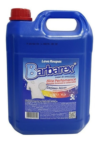 Lava Roupas Liquido Barbarex 5 Litros