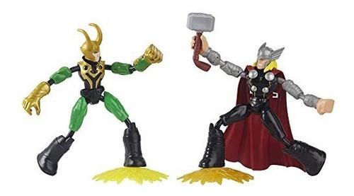 Imagem 1 de 2 de Boneco Marvel Avengers Bend And Flex Thor Vs Loki Hasbro