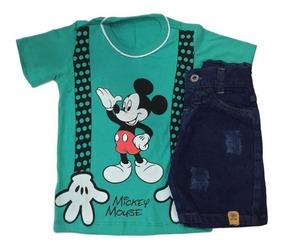 04 Conjuntos Infantis Jeans/sarja Menino Roupas Atacado
