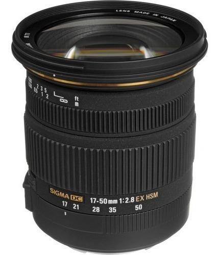 Lente Sigma 17-50mm F / 2.8 Ex Dc Os F Hsm Para Nikon
