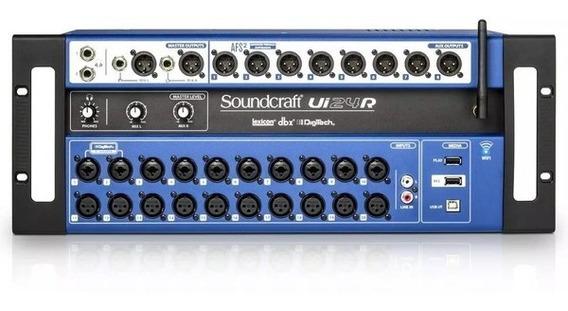 Mesa De Som Digital Soundcraft Ui24r Wireless 24 Canais Usb