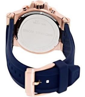 Reloj Michael Kors Para Hombre Mk8295 Silicona Azul