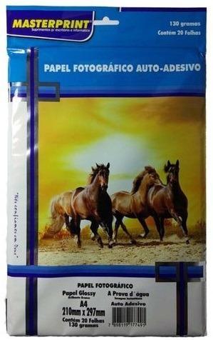 Papel Fotográfico 100fls 130g Auto Adesivo Premium