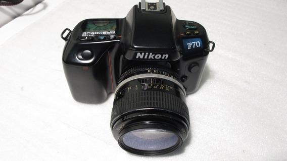 Camera Analogica 35mm Nikon F70 Só O Corpo