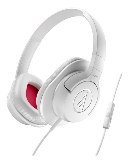 Fone De Ouvido C/mic Audio-technica - Ath-ax1iswh - Over-ear