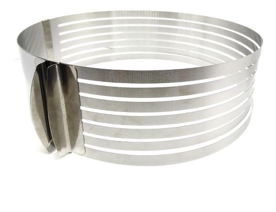 Molde Extensible Redondo Tortas 24-30 8,5 Cm Corte En Capas