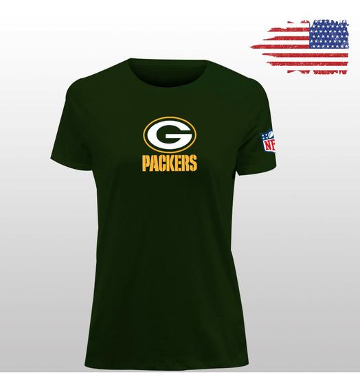 Playera Dryfit Cuello Redondo Green Bay Packers Logo Mujer