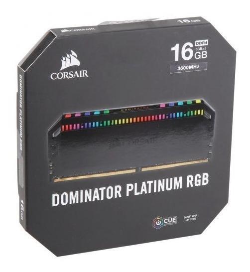 Memória Corsair 16gb 2x8 Ddr4 3600mhz Dominator Platinum Rgb
