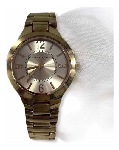 Relógio Anne Klein Feminino Dourado Rosê Usado Original Eua