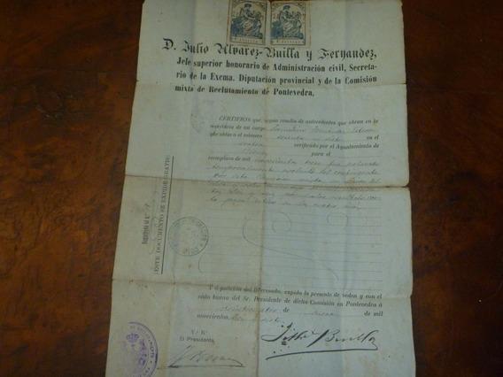 Antiguo Documento Ayuntamiento Pontevedra Año 1917 (ar 2414)