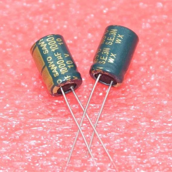 Capacitor Eletrolítico 1000uf X 10v - 5 Unidades