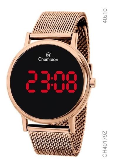 Relógio Champion Digital Led Rosé Feminino Ch40179z