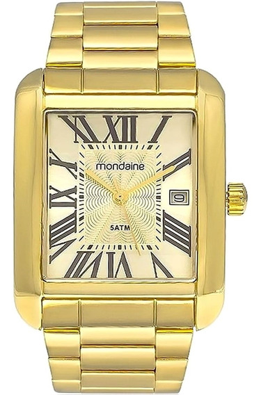 Relógio Masculino Mondaine 78623gpmvda2 Dourado