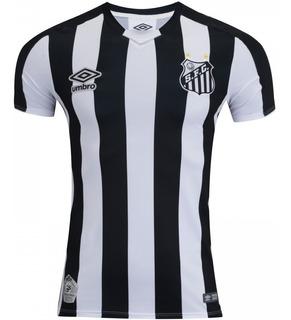 Camiseta Camisa Santos Preta Torcedor 2019 Frete Grátis