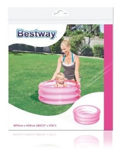 Pileta Inflable 3 Aros Infantil Para Bebe 70 X 30 Cm Bestway