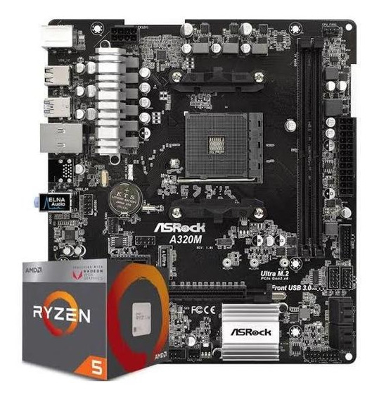 Kit Upgrade: Ryzen 5 2400g + Asus A320m-k Br