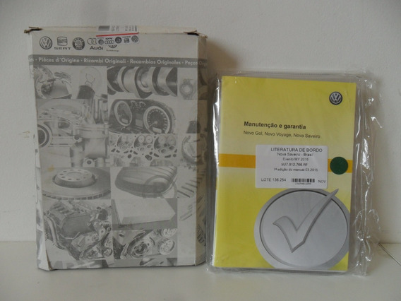 Manual Proprietario Completo Saveiro G6 5u7012766rf