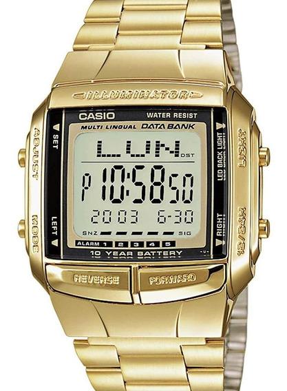 Relógio Casio Masculino Vintage Dourado Db-360g-9adf