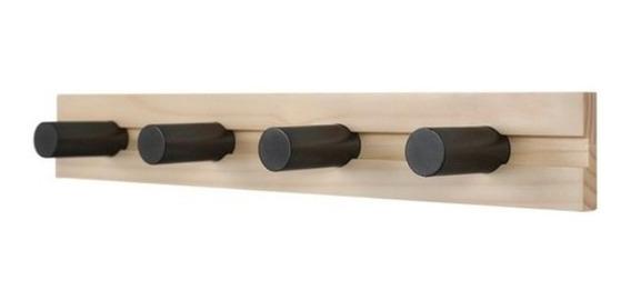 Cabideiro Torneadinho - Cru Fosco E Preto Fosco