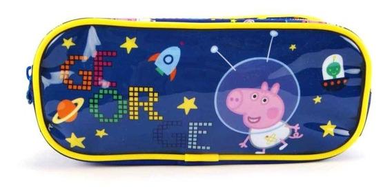 Estojo Escolar George Peppa Pig Duplo Xeryus - 5525
