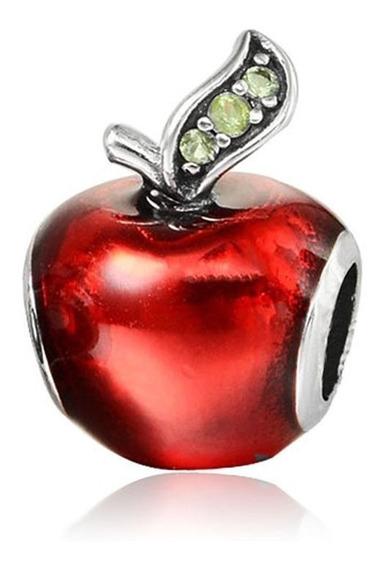 Collar Con Dije Manzana Apple Red Acero Y Cristal Incrustado