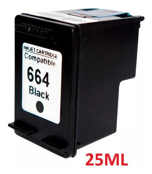 Cartucho 664xl Preto Compatível 25ml Rj