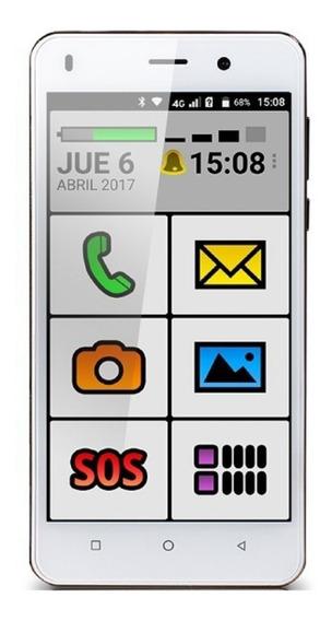 EXO Spanky Fácil 4G Dual SIM 16 GB Blanco 1 GB RAM