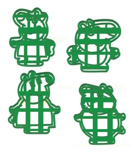 Imagen 1 de 6 de Set Combo Cortantes Galletitas Peppa Pig X4 Unidades