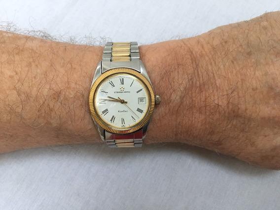 Relógio Nivel Do Omega, Grandão, 35mm Sem Contar A Coroa, Automático, Marca Eterna Kontiki - 13 Anos No Mercado Livre