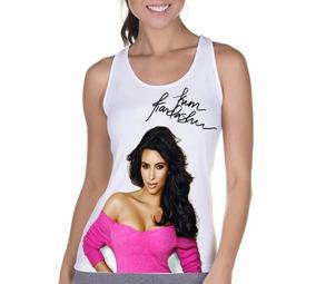 Kit 10 Blusas Femininas Regata Kardashians Vários Tamanhos