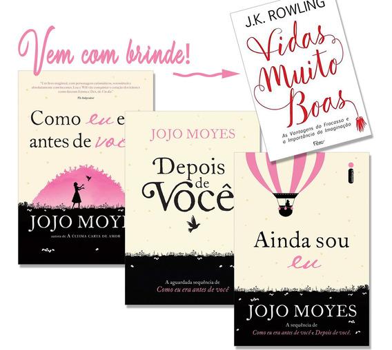 Livro Como Eu Era Antes De Você Coleção Jojo Moyes + Brinde
