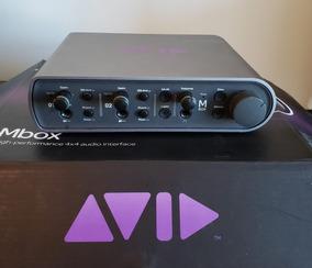 Interface De Áudio Mbox 3 Avid 4x4 - Gravação - Home Studio