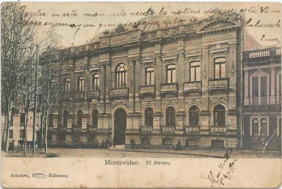 Antigua Postal De 1904 El Ateneo Montevideo, Uruguay