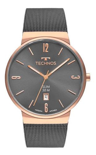 Relógio Technos Masculino Classic Slim Gm10yn/4p