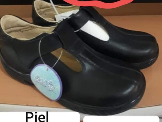 Zapato Escolar Nuevo De Dama 100% Piel