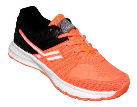 Tenis Para Dama Running Naranja Negro-mod.0400ti5112815