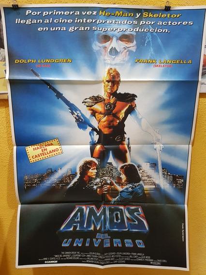 Antiguo Afiche De Cine He Man Y Skelator-amos Del Universo