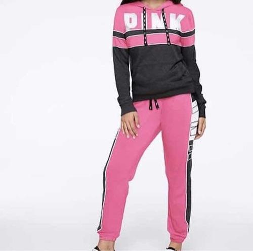 Pantalón Victorias Secret Pink - Fucsia Negro