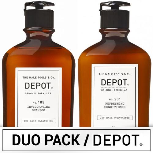 Duo Pack Depot Shampoo 101 Energizante Y Acondicionador 201