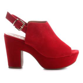 Sandália Feminina Bebecê Open Boot Vermelha