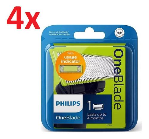 Imagen 1 de 6 de 4x Repuesto Philips Qp210 Afeitadora Oneblade